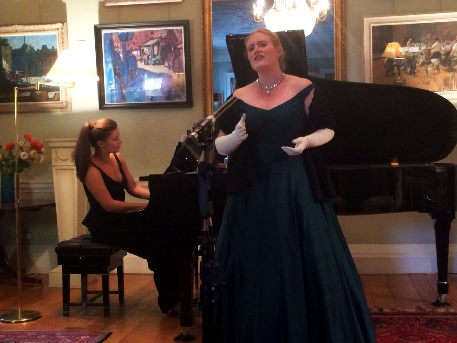 Concert pianist Olga Jegunova and soprano Kirstin Sharpin perform the Comtesse Merlin's original composition Air Espagnol